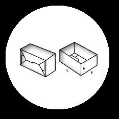 700 - Pudełka klejone jednoczęściowe